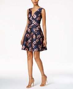 158.00$  Watch here - http://vilxi.justgood.pw/vig/item.php?t=lqougv23557 - Floral Jacquard Fit & Flare Dress