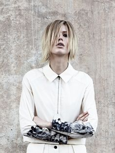 Titania Inglis: Tux Shirt in Smudge Dye  hand painting in select areas to add interest and value.   organic, vintage woven Japanese cotton   telling the story through the fabric. Value adding through organics which are sourced for both uniqueness, quality and environmental impact.