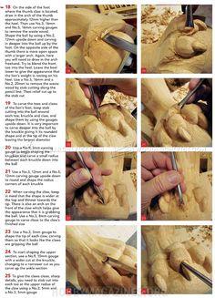 # 2378 Escultura de Bola e Pé de Garra - Pernas de Móveis Escultura de Madeira de Construção
