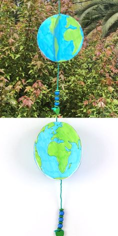 paper earth craft for kids spinning paper earth craft for kids with free printable template. This paper earth spins in the wind just like our real planet does! A fun and easy craft idea for earth day and a great STEM project for kids. Stem Projects For Kids, Earth Day Projects, Diy Crafts For Kids, Easy Crafts, Art For Kids, Arts And Crafts, Paper Crafts, 3d Paper, Preschool Crafts