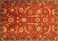 70003058, Sickle Leaf Isfahan Recreation Custom carpet collection, 10' x 14'