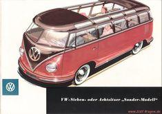 VW - 1956 - VW - Sieben- oder Achtsitzer Sonder-Modell - w 1/14/5 - [1527]-1