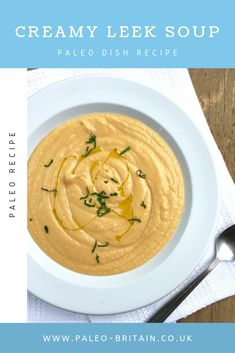 Creamy Leek Soup  #Paleo #food #recipe #keto #diet