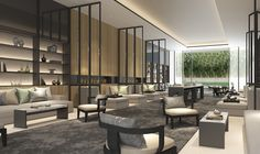 SCDA Hotel & Mixed-Use Development, Nanjing, China- Spa Lounge