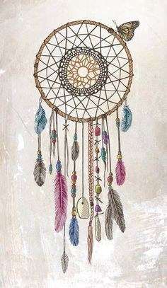Lakota (Dream Catcher) Art Print - the two things I love in one picture. Dream catcher and a butterfly Tattoo Heaven, Cute Wallpapers, Wallpaper Backgrounds, Iphone Wallpapers, Wallpaper Ideas, Dream Catcher Pictures, Los Dreamcatchers, Dream Catcher Art, Dream Catcher Tumblr