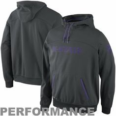 71595dc97 Nike Kansas State Wildcats Basketball Performance Full Zip Hoodie -  Charcoal Purple