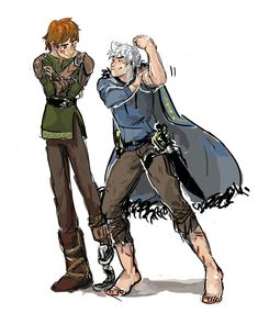 """Hiccup: """"Im taller"""" Jack: """"well im stronger"""" Hiccup: """"I have a dragon"""" Jack: """"I have both my legs"""" *silence*"""