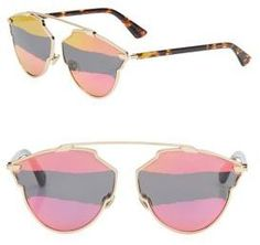 0dcf75e3a42 Dior Dior So Real 59MM Mirrored Pantos Sunglasses Christian Dior Sunglasses