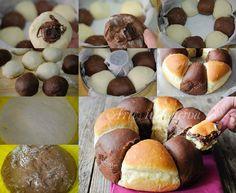 Ciambella bicolore brioche alla nutella ricetta vickyart arte in cucina