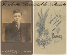 Fața și versoul unei poze despre care nu știu mai nimic. Știu doar că Porkolab Karoly avea casa în centru, vis a vis de primarie. Oare în ce an e făcută fotografia și a cui e figura imortalizată pe hartie? #descoperabozovici Vintage Postcards, Collection, Vintage Travel Postcards, Post Cards Vintage