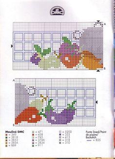 Gallery.ru / Фото #1 - cenefas dmc - geminiana Cross Stitch Kitchen, Baby Cardigan, Cross Stitch Embroidery, Knitting, Canvas, Embroidery Ideas, Chicken Cross Stitch, Crochet Fruit, Cross Stitch Pillow