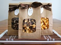 "Gourmet Chocolate Popcorn Three Ways <meta name=""p:domain_verify"" Ways Mysterious Ways may refer to: Popcorn Packaging, Bakery Packaging, Cookie Packaging, Food Packaging Design, Gift Packaging, Bake Sale Packaging, Popcorn Gift, Popcorn Bar, Popcorn Wedding Favors"
