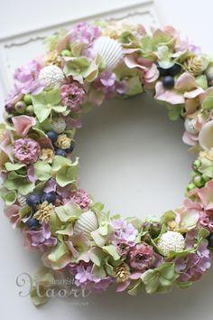 貝殻のリース / クラシカルピンクグリーン