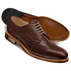Brown Anderson Derby brogue shoes