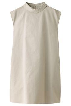 フォンデルコットンロールネックドレス