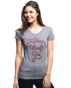 I'm in LOVE with this T-shirt ! #AFSP #sucideprevention http://www.sevenly.org/collections/american-foundation-for-suicide-prevention/products/this-world-needs-you-triblend-short-sleeve-tee…