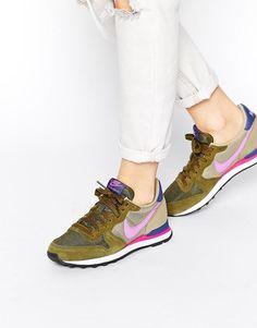 Nike Internationalist Olive Trainers saved by #ShoppingIS