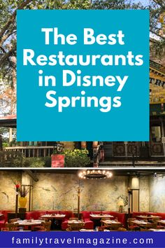 Disney Springs especially offers so many dining choices, from table service restaurants to food trucks, including some of the best Disney restaurants. Here are the best Disney Springs restaurants for your next trip. Disney World Resorts, Hotels And Resorts, Walt Disney World, Disney World Tips And Tricks, Disney Tips, Disney Reservations, Best Disney Restaurants, Rainforest Cafe, Disney Dining Plan