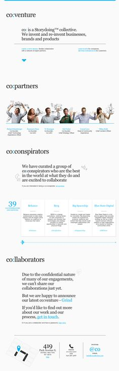 co:collective website... always loved the simplicity and confidence. #webdesign #web #website