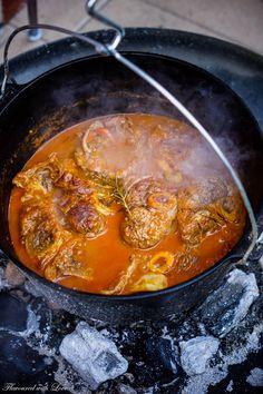 """Ossobucco heißt eigentlich """"Knochen mit Loch"""" und ist ein traditionelles Gericht aus Mailand. Kalbsbeinscheiben werden langsam in Weißwein und Kräutern geschmort und erhalten dad…"""
