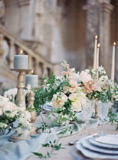 Breathtaking Italian wedding inspiration as a tribute to art and history Italy We . Breathtaking Italian wedding inspiration as a tribute to art and history Italy wedding inspiration French Blue Wedding, French Wedding Decor, Dusty Blue Weddings, Wedding Table Settings, Italy Wedding, Floral Wedding, Pastel Wedding Colors, Wedding Skirt, Romantic Weddings