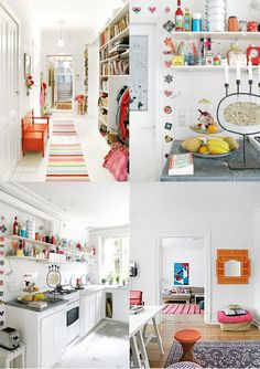this home is SO lovely, lots of white with bright! via Hidden in France