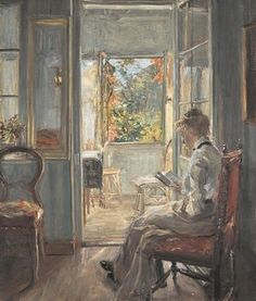 Reading and Art - Fritz von Uhde - Lesendes Mädchen (1902) - Öl auf Leinwand.     As a writer and publisher I am passionate about reading:   http://margotvanaanholt.com