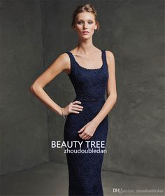 2016 Sexy Zuhair Murad Square Neck Lace Formal Evening Dresses with Jacket Long Sleeve Mermaid Dark Blue Prom Gowns Custom Made BT227 Online with $152.77/Piece on Zhoudoubledan's Store | DHgate.com