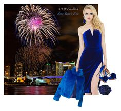 She Wore Blue Velvet ... New Year's Eve by granmaboat on Polyvore featuring Akira, n:PHILANTHROPY and Badgley Mischka. for Art & Fashion