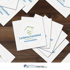 Place your brand to stickers, just like Canberra Furnished 38mm Matt Paper Stickers.   #ozstickerprinting #canberrafurnished #stickers #stickers #mattpaperstickers #mattstickers