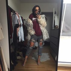 Shannen Jai, faux fur lovin' in Flower 13