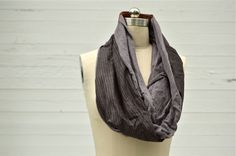 Tac Grey Cotton Cowl Scarf via RUBA RUBA Designs. Click on the image to see more!