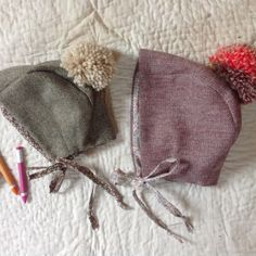 Bonnets can be lined in Liberty or natural cotton xx