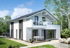 Edition 2 V3 - Bien Zenker - http://www.hausbaudirekt.de/haus/edition-2-v3/ - Fertighaus als Einfamilienhaus Modernes Haus Stadthaus mit Satteldach
