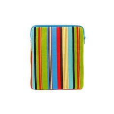 NOVICA Striped Woven Multicolor Cotton iPad Case ($40) ❤ liked on Polyvore featuring accessories, tech accessories, clothing & accessories, handbags, laptop bags & tablet cases, ipad laptop case, ipad cover case, novica, ipad sleeve case and ipad notebook case