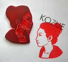 Single person hand carved portrait by DearYouFromKozue on Etsy, $55.00