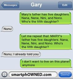 MARY's father... :P Tee-hee!