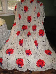 Classy Red Hat Afghan