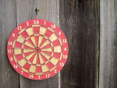 Vintage Dart Board, Baseball Diamond, Industrial functional art piece. Modern Americana for him~ Man Cave ready! on Etsy, $32.00