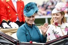 - Photo - Royal Ascot: Princess Eugenie, Sophie Wessex, Autumn Phillips and Zara Tindall joined the Queen and royal family at Ladies' Day on Thursday Princess Eugenie, Royal Princess, Princess Diana, Royal Ascot Ladies Day, Autumn Phillips, Zara Looks, Zara Phillips, Elisabeth Ii, Cocktail Hat