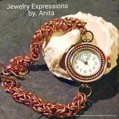Hand Crafted Byzantine Woman's Wristwatch by JewelryDesignbyAnita