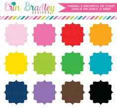 Fancy Tags Clipart – Erin Bradley/Ink Obsession Designs