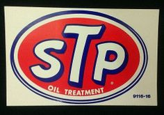 Vintage NOS 60s-70s Original STP Oil Treatment Large Oval Racing Sticker Decal