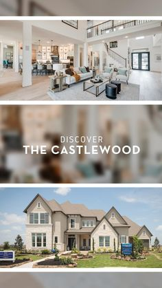 New House Plans, House Floor Plans, Modern Kitchen Design, Modern House Design, Dream Mansion, Dream Houses, Cozy House, House 2, Open Concept Floor Plans
