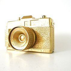 NEED to spray paint an old camera a metallic color!  How awesome would that be?!?!?!
