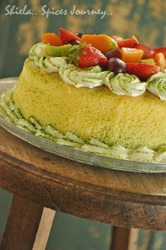 Spices Journey: GREENTEA MARBLE CHEESE CAKE