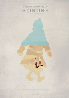 The Adventures of Tintin (2011) ~ Minimal Movie Poster by Mads Svanegaard #amusementphile