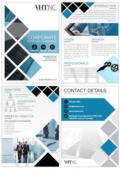 Van Heerden Troskie Inc. Company Profile Design Templates, Company Brochure Design, Graphic Design Brochure, Corporate Brochure Design, Page Layout Design, Magazine Layout Design, Design Design, Photoshop Design, Corporate Profile