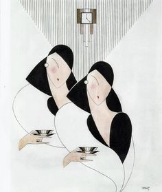 Janet Clarke Fashion Illustration Art Deco by AnnesAccumulations