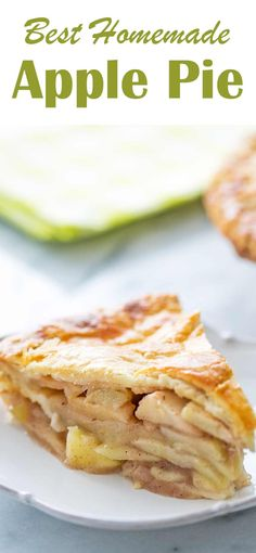 The Best Homemade Apple Pie! with a flaky, buttery crust and an apple pie filling with sliced apples, sugar, spices, and vanilla #ApplePie #applerecipes Best Apple Pie, Apple Pie Spice, Homemade Apple Pies, Apple Pie Recipes, Sliced Apples, Baked Apples, Diet Desserts, Apple Desserts, Delicious Desserts